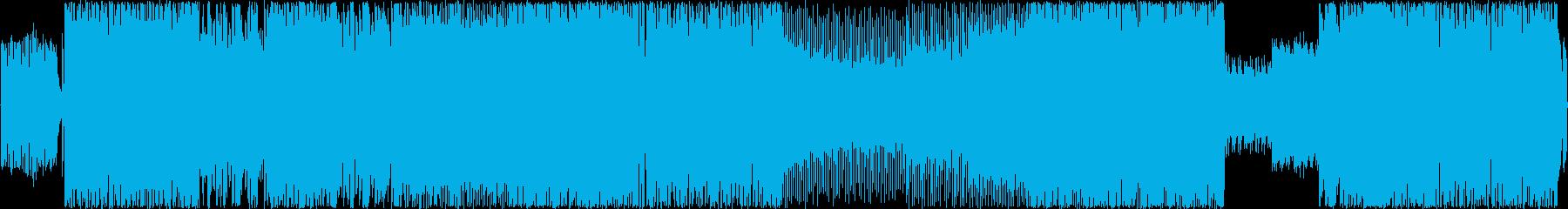 アップテンポなJ-ROCK風の楽曲の再生済みの波形