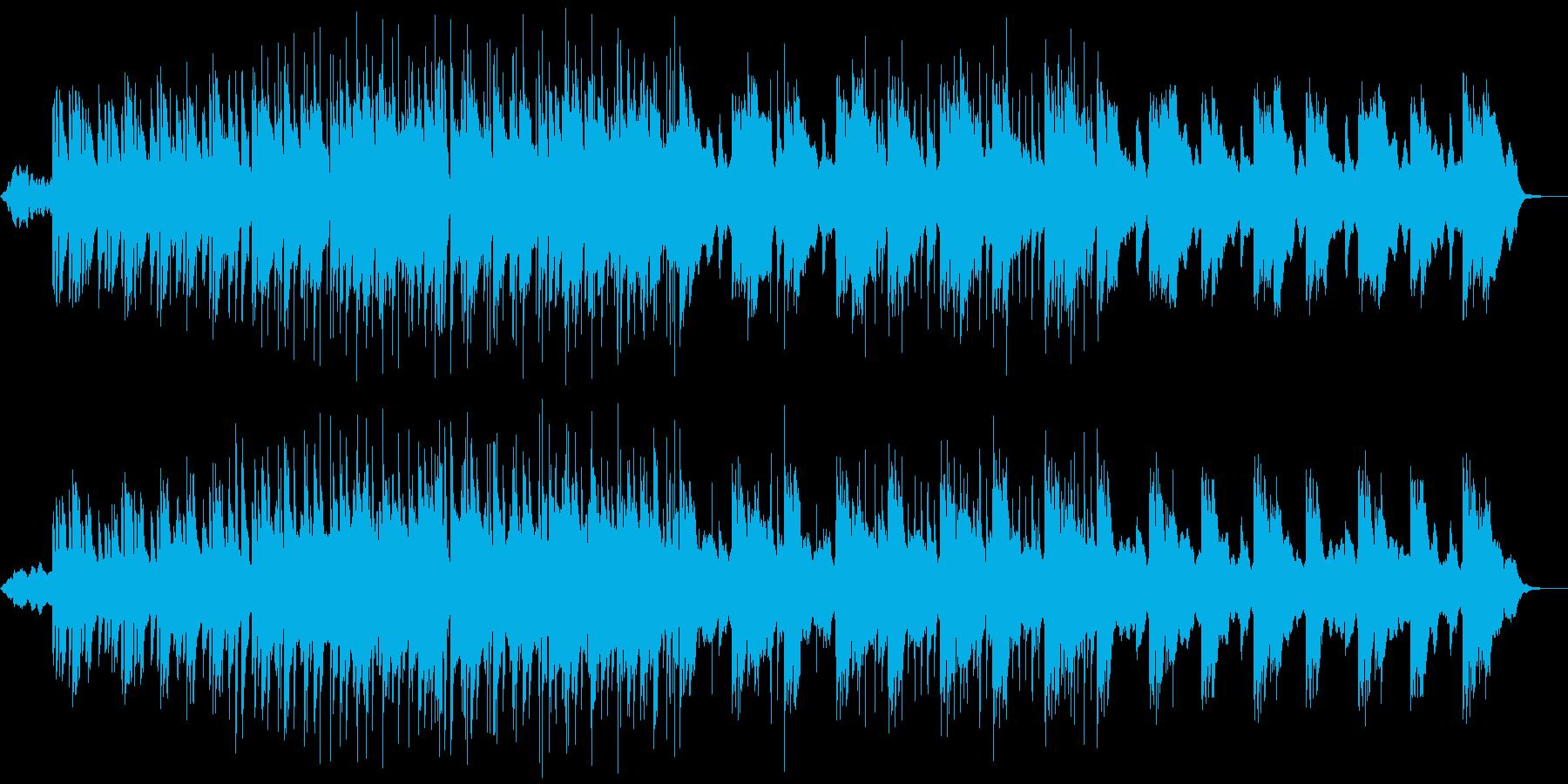 シンプルで爽やかなポップスの再生済みの波形