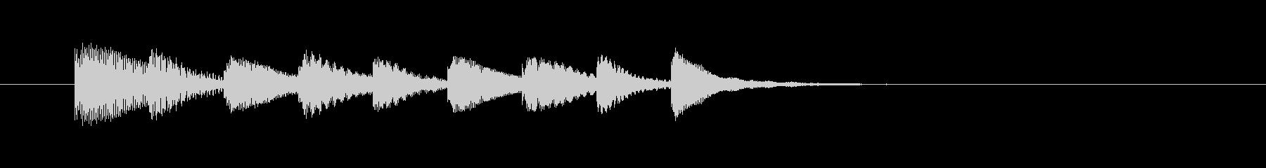 木琴のシンプルなジングルの未再生の波形