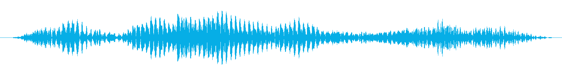 ゴロゴロと唸る怪獣の音(水中)の再生済みの波形