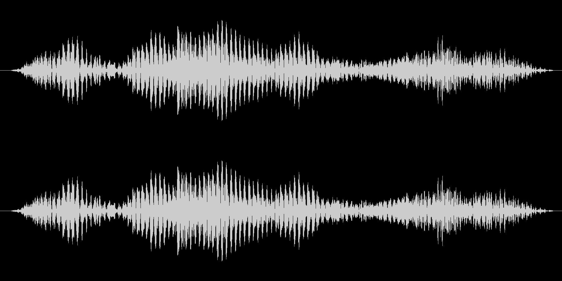 ゴロゴロと唸る怪獣の音(水中)の未再生の波形
