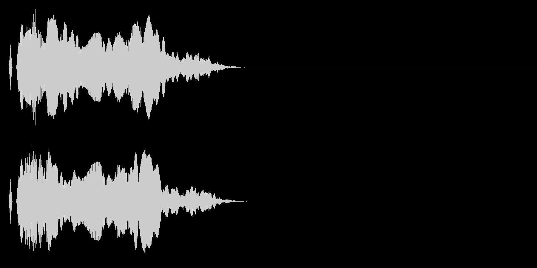 ニャ〜!猫の鳴き声 効果音14の未再生の波形