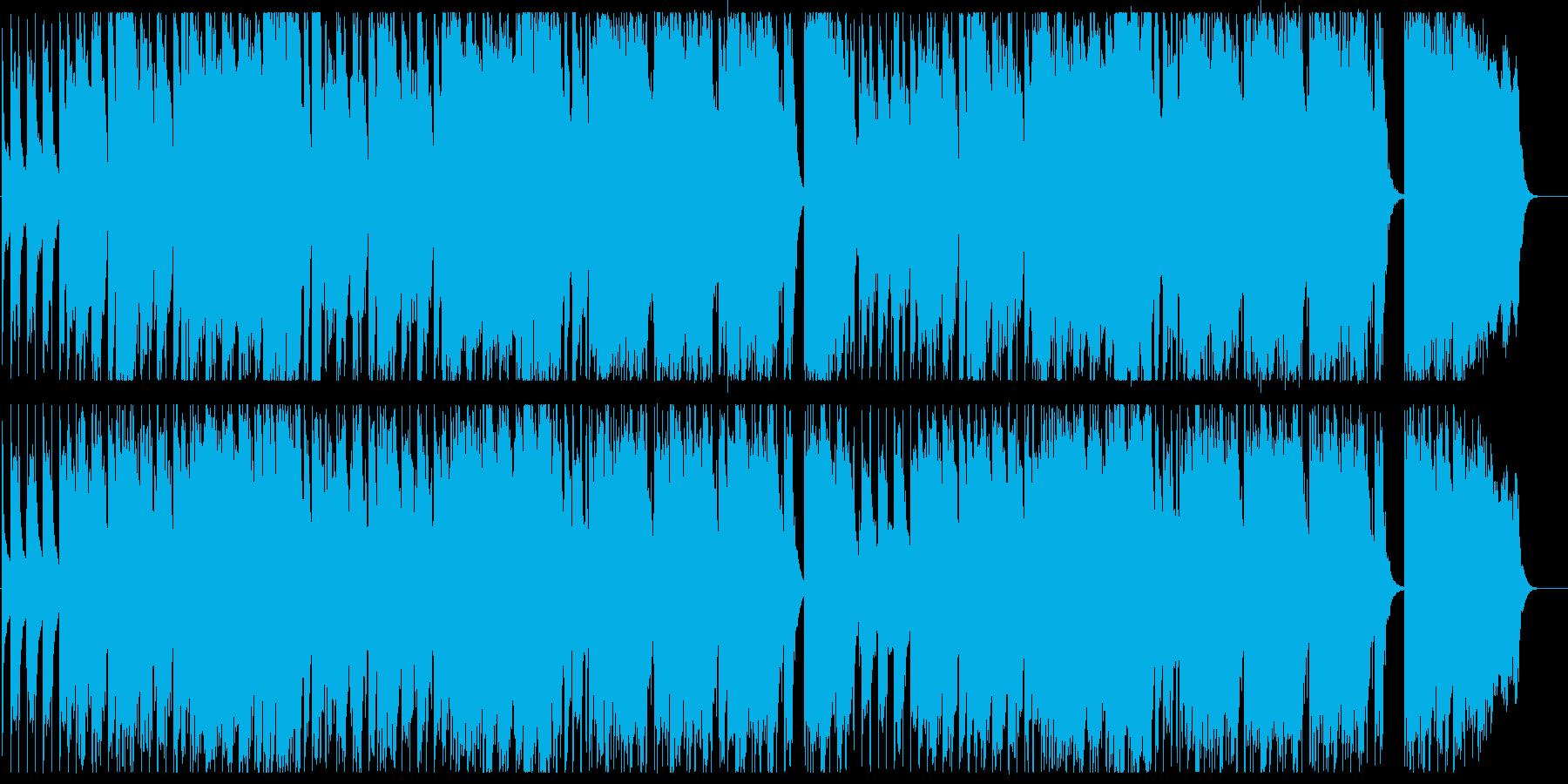 メルヘンで明るい楽器混じりのポップな曲の再生済みの波形