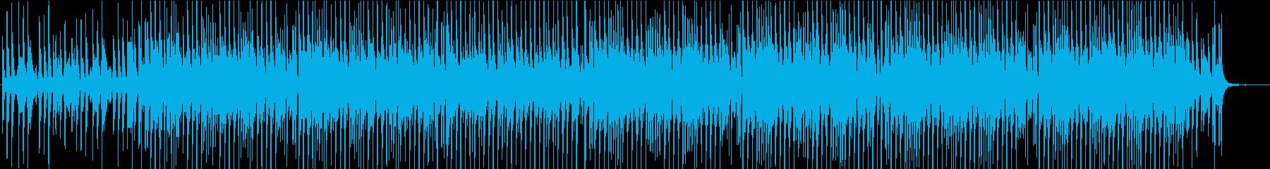 オシャレで明るく楽しいハウス系BGMの再生済みの波形