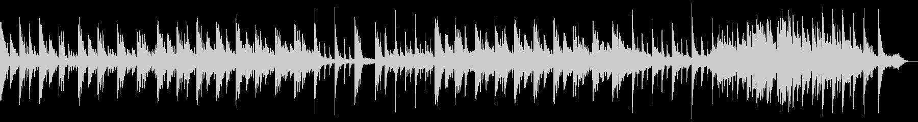 ピアノの美しい旋律のリラクゼーション楽曲の未再生の波形