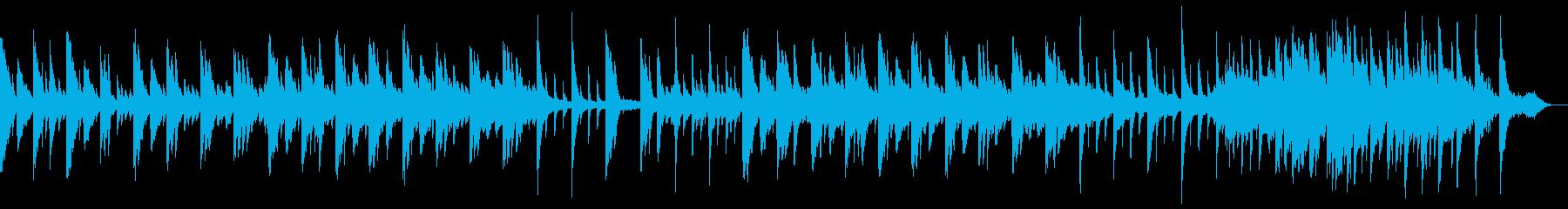 ピアノの美しい旋律のリラクゼーション楽曲の再生済みの波形