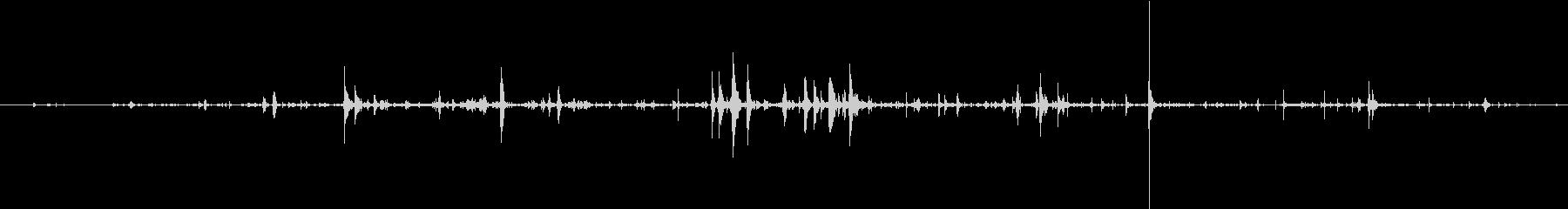 ヘビーボーンクランチ拷問&ホラーの未再生の波形
