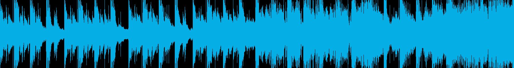 和風物悲し気なループBGMの再生済みの波形