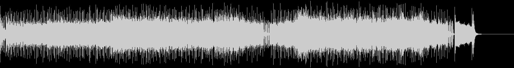 ディストーションギターリフの効いたロックの未再生の波形