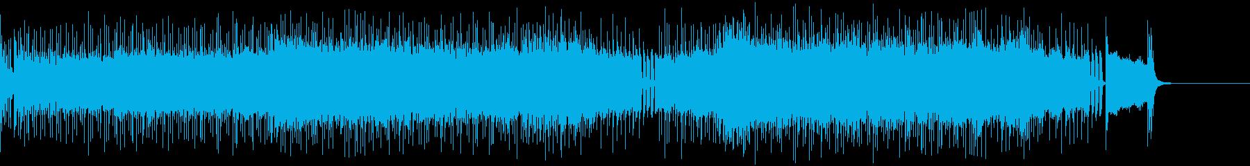 ディストーションギターリフの効いたロックの再生済みの波形