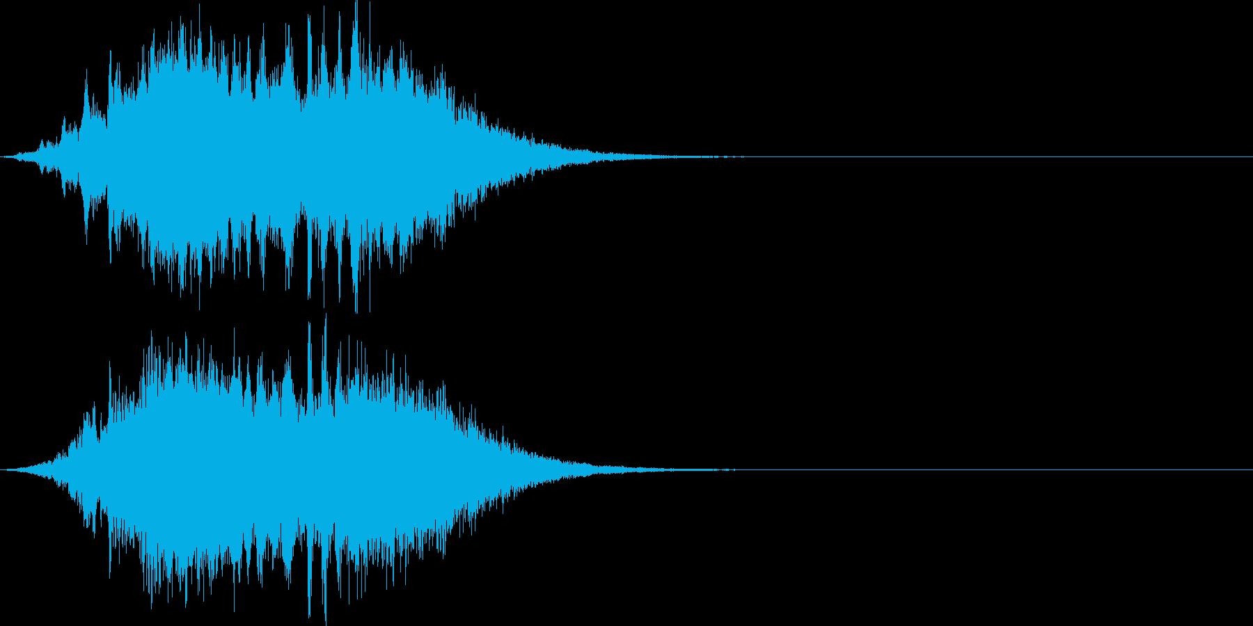 蘇生魔法(魂が戻ってくる)の再生済みの波形