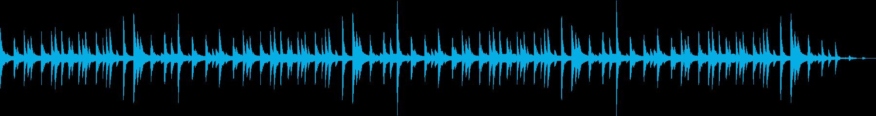 ほのぼのしたCM等に ピアノ調の再生済みの波形