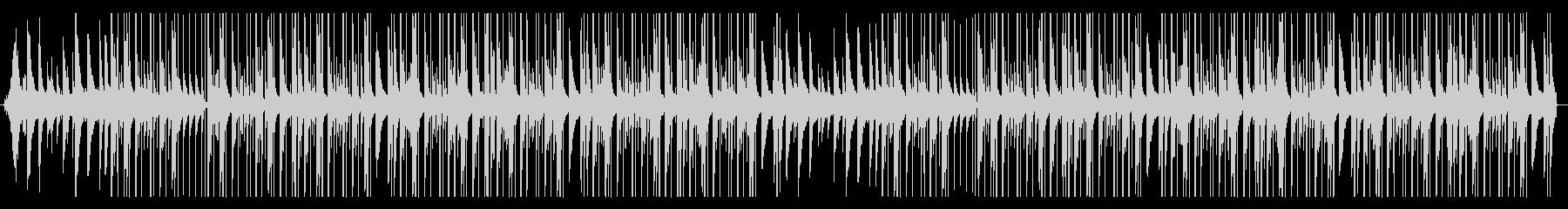 ローファイ、チルアウト、ピアノの未再生の波形