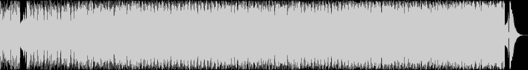 どこか懐かしい4ツ打ちデジタルサウンドの未再生の波形