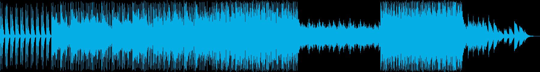 軽快シンセと不思議なエレピのダンス風の曲の再生済みの波形