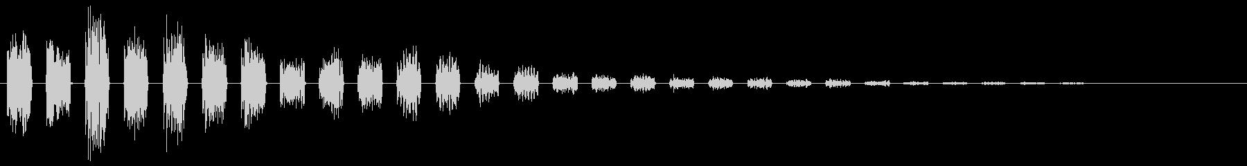 【エレキギター】クリーントレモロ音の未再生の波形