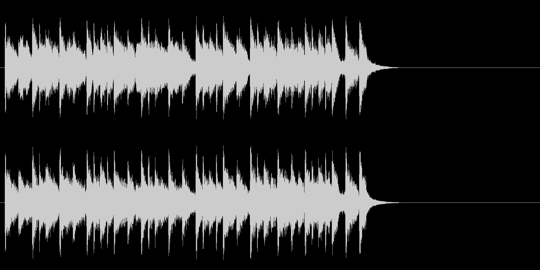 ほのぼのとしたポップ(Aメロ)の未再生の波形