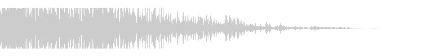 獣モンスターの叫び(迫力ある重低音)の未再生の波形