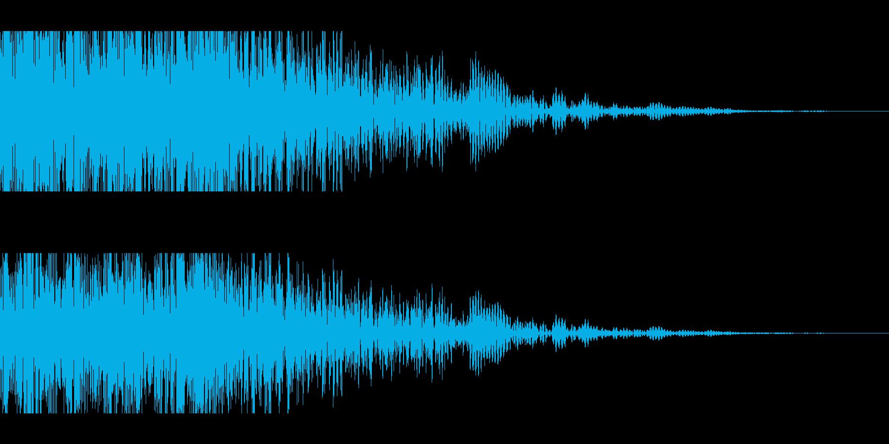 獣モンスターの叫び(迫力ある重低音)の再生済みの波形