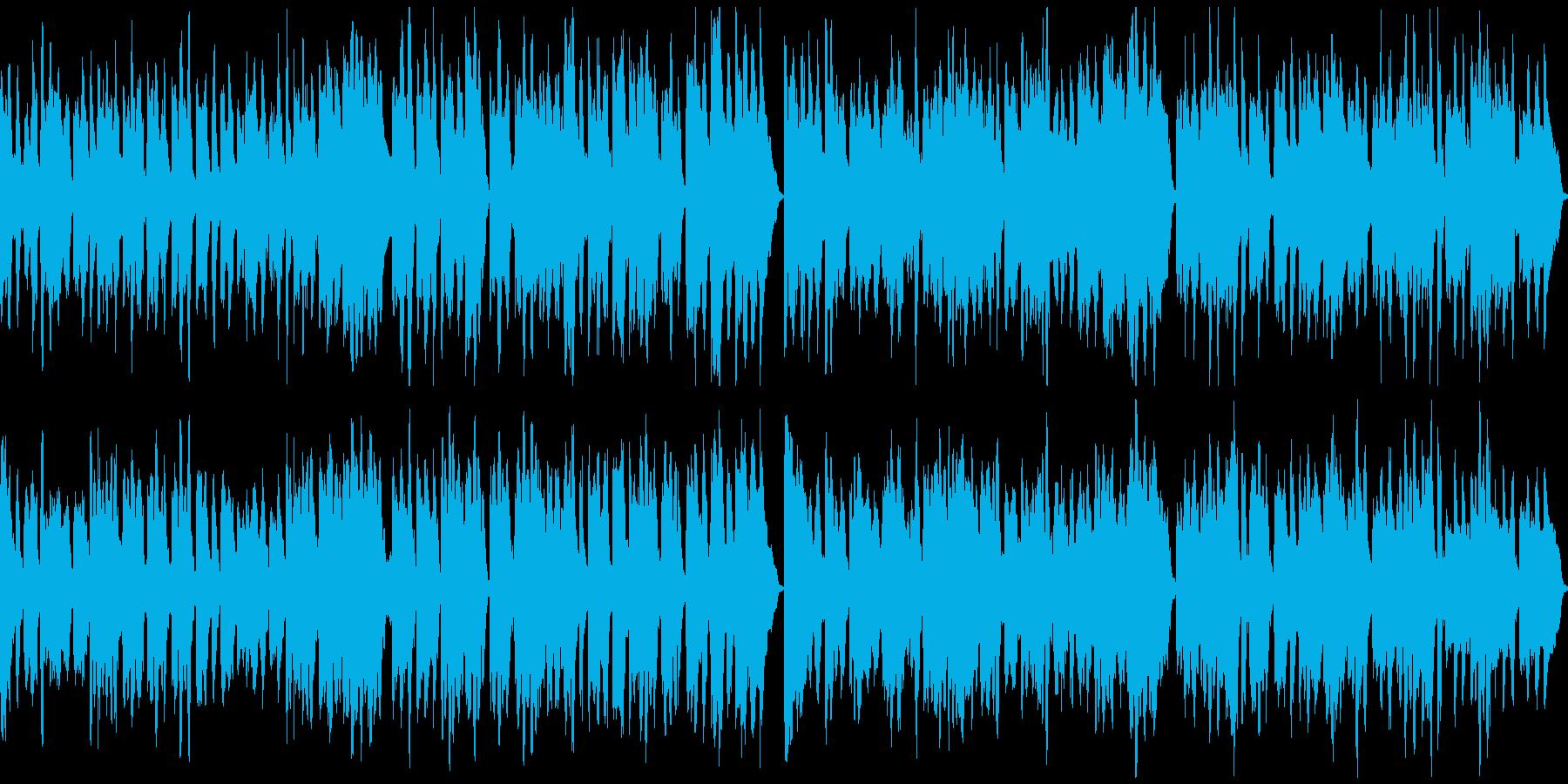 かわいいメルヘンチックな曲の再生済みの波形