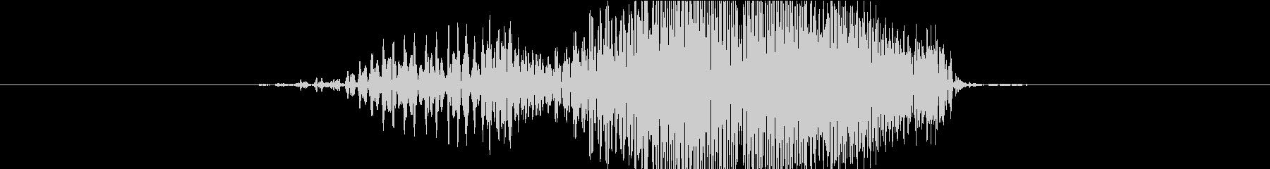 ジッパー閉める音(ブィイイ)の未再生の波形