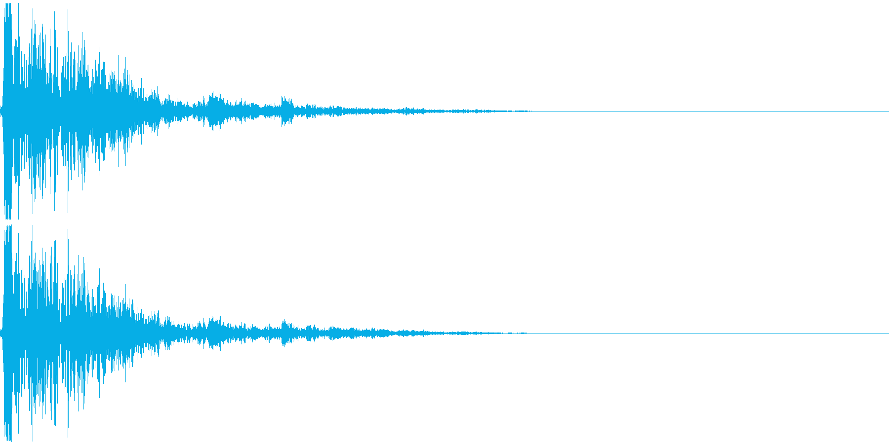 破壊音_木製の物の再生済みの波形
