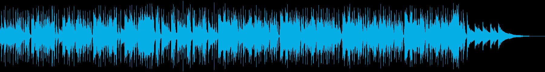 落ち着いたジャズ風エンディングテーマの再生済みの波形