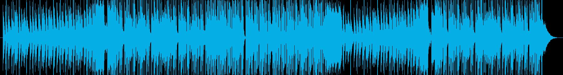 バックグラウンドアクションヒップホップの再生済みの波形