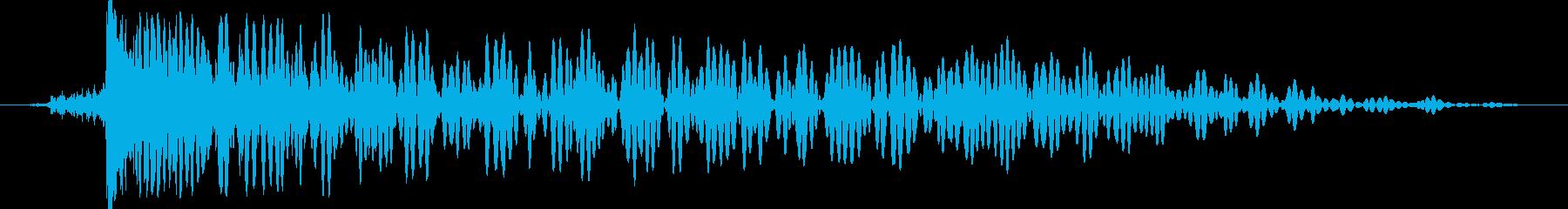 レーザーストライクの衝撃または爆発、乾燥の再生済みの波形