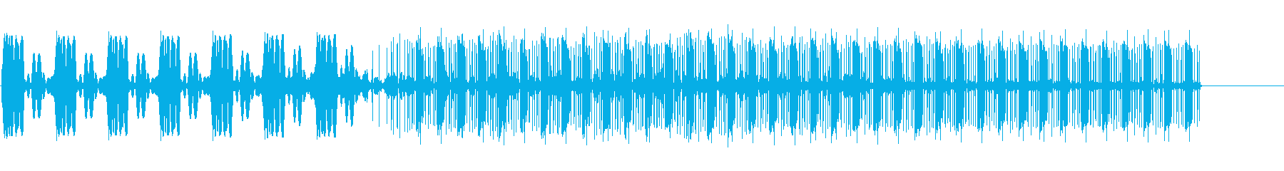 かみそり静的スワイプ1の再生済みの波形