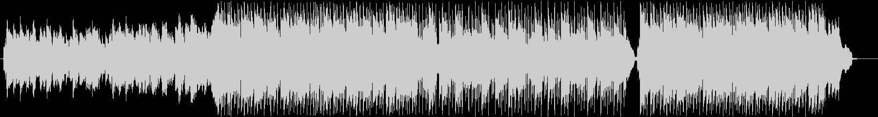 ほのぼのとした行進曲BGMの未再生の波形