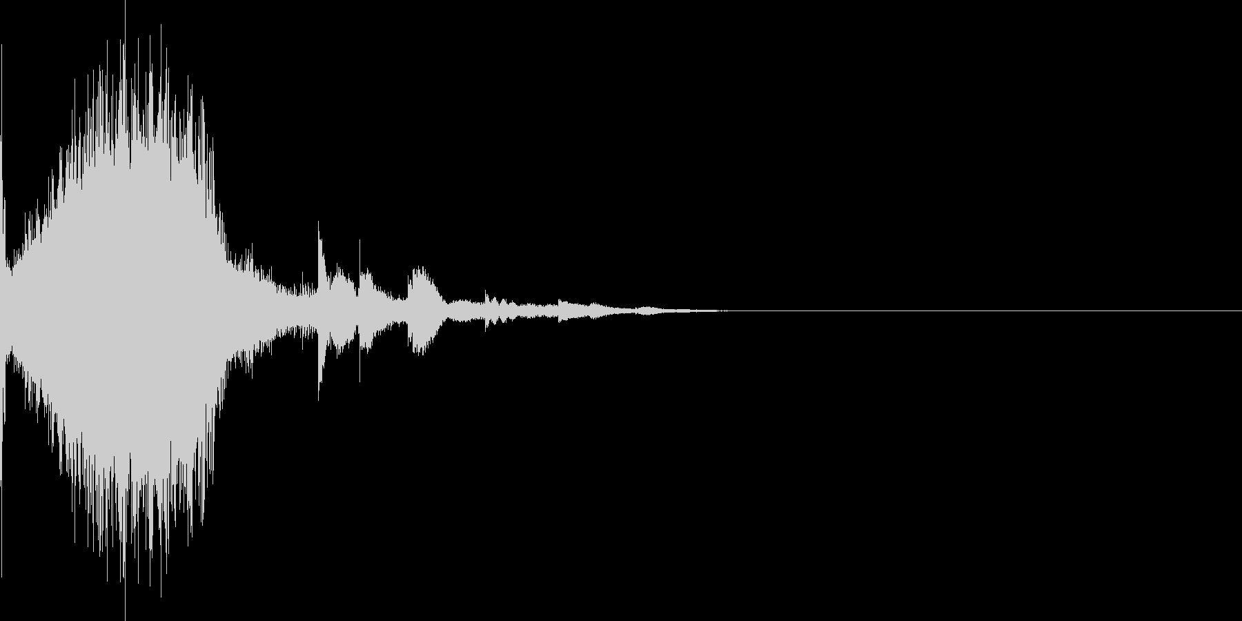 インフォメーションやゲームに使える効果音の未再生の波形