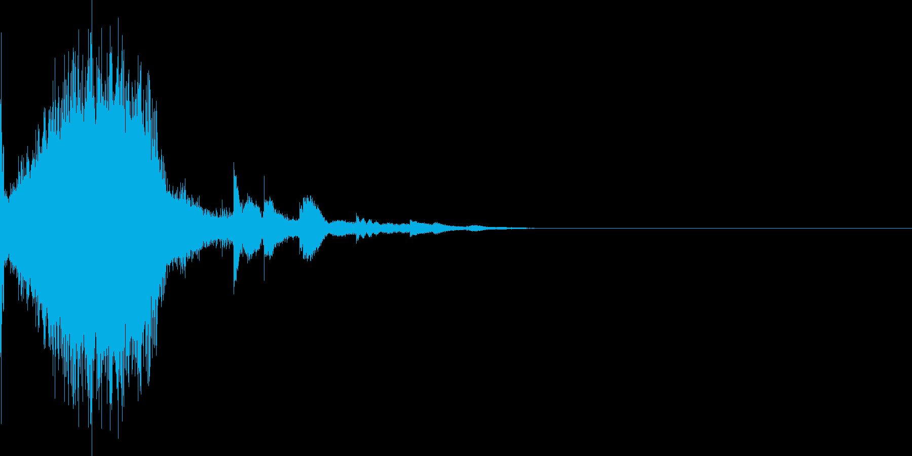 インフォメーションやゲームに使える効果音の再生済みの波形
