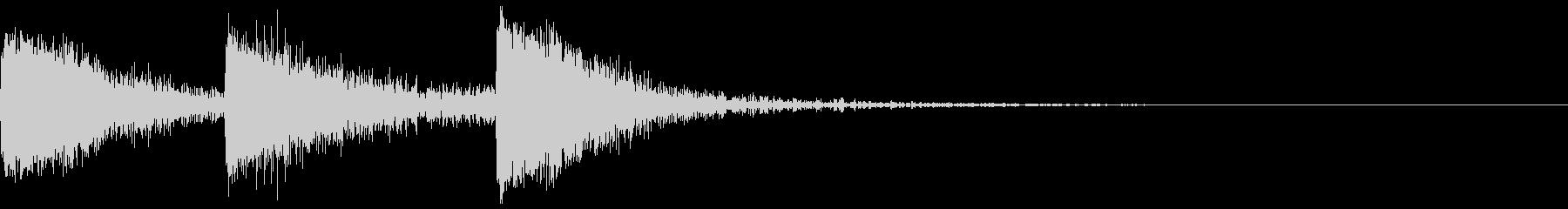 【SE】攻撃音03ヒット3発(ビビビシ)の未再生の波形