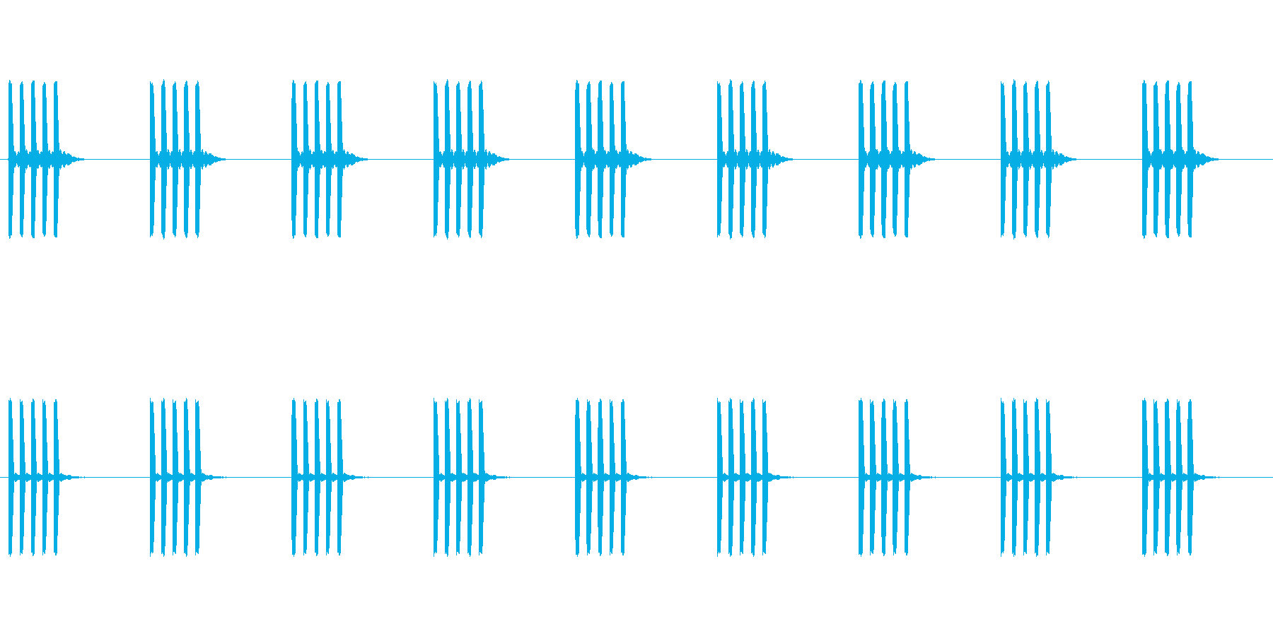 目覚まし時計のアラーム音 電子音の再生済みの波形