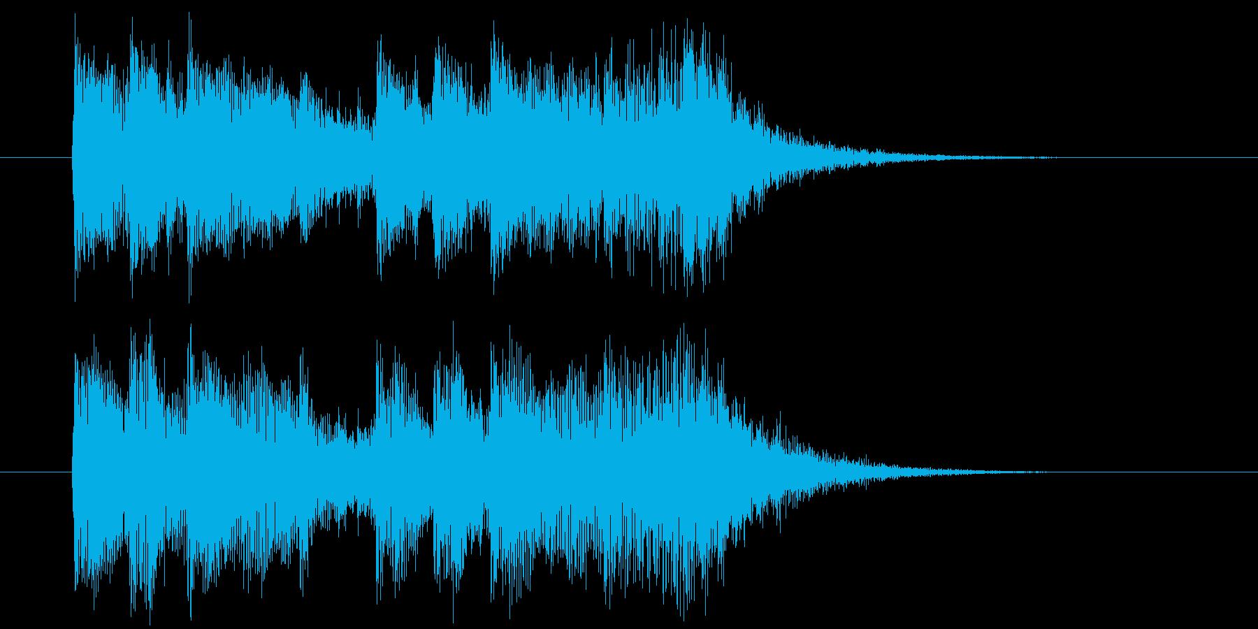 明るく向上心のある真面目な短めの曲の再生済みの波形