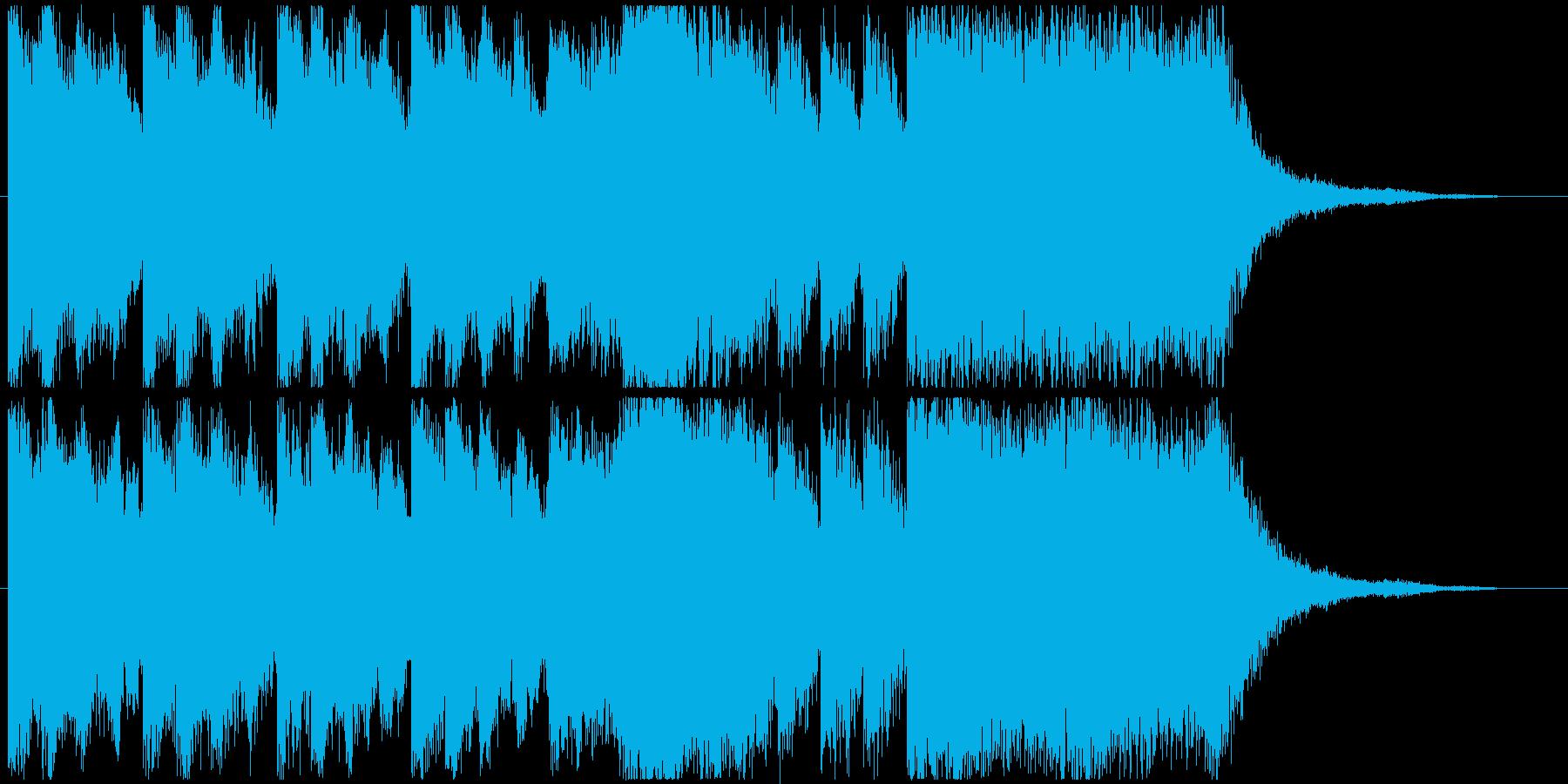 特撮、SF映画、アニメのタイトルバック曲の再生済みの波形