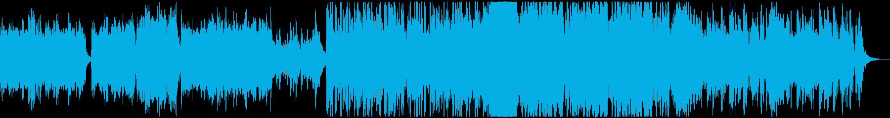 ドラマティックな和風オーケストラ曲の再生済みの波形
