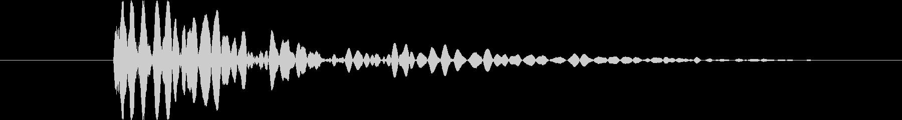 怪物のジャンプ_ドスン_打撃音の未再生の波形