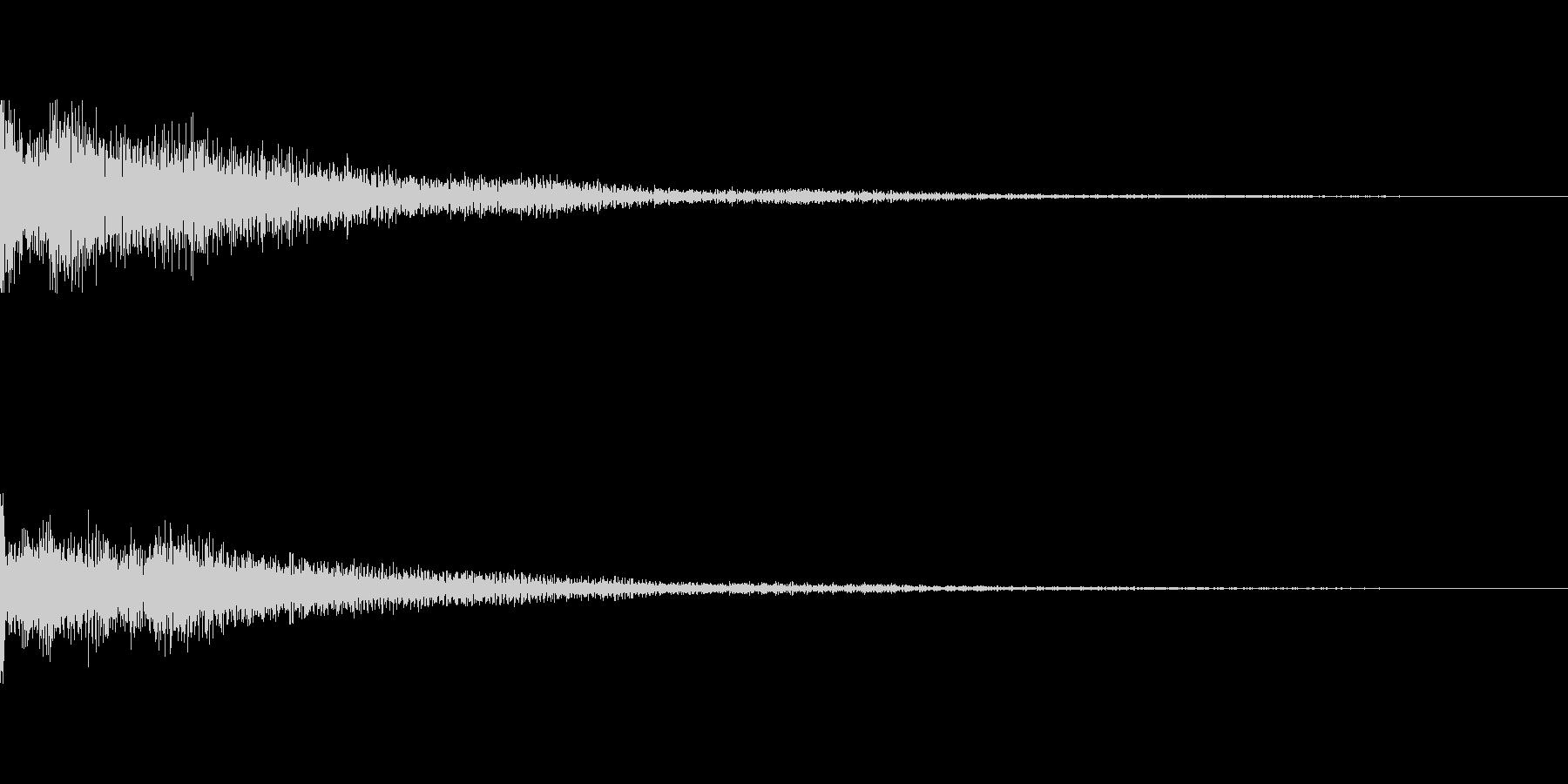 カジノスロット定番トップシンボル音3の未再生の波形