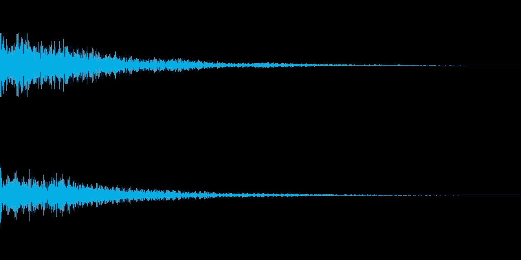 カジノスロット定番トップシンボル音3の再生済みの波形