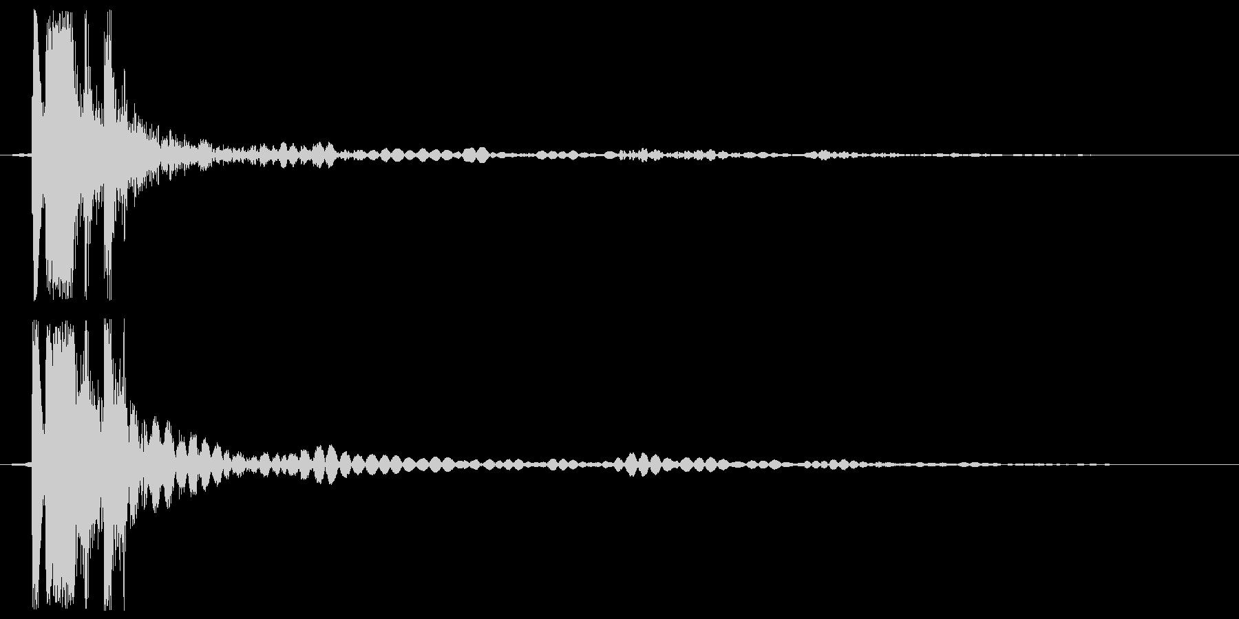 プシュッ (開放音)の未再生の波形