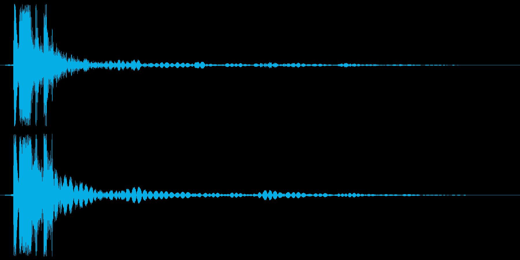 プシュッ (開放音)の再生済みの波形