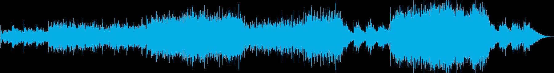 アコースティックギター、ピアノ、青...の再生済みの波形