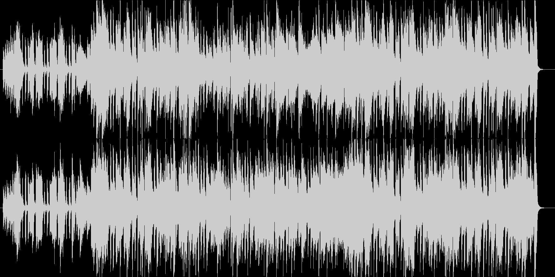 トランペットを使用した軽快で上品なジャズの未再生の波形