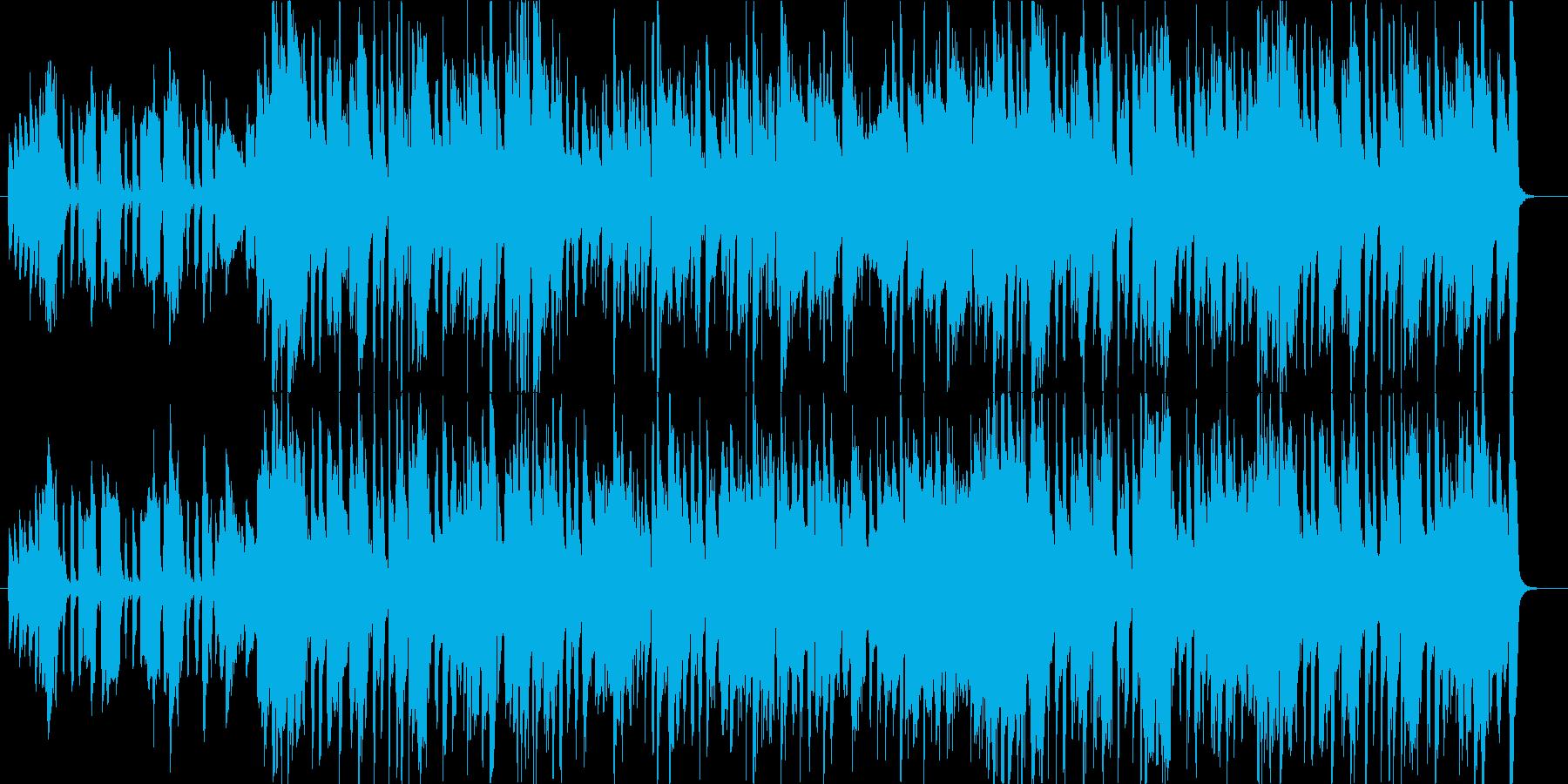 トランペットを使用した軽快で上品なジャズの再生済みの波形