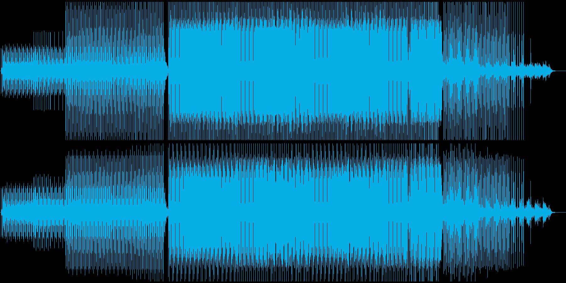 シンプル切ない感じのテクノサウンドEDMの再生済みの波形
