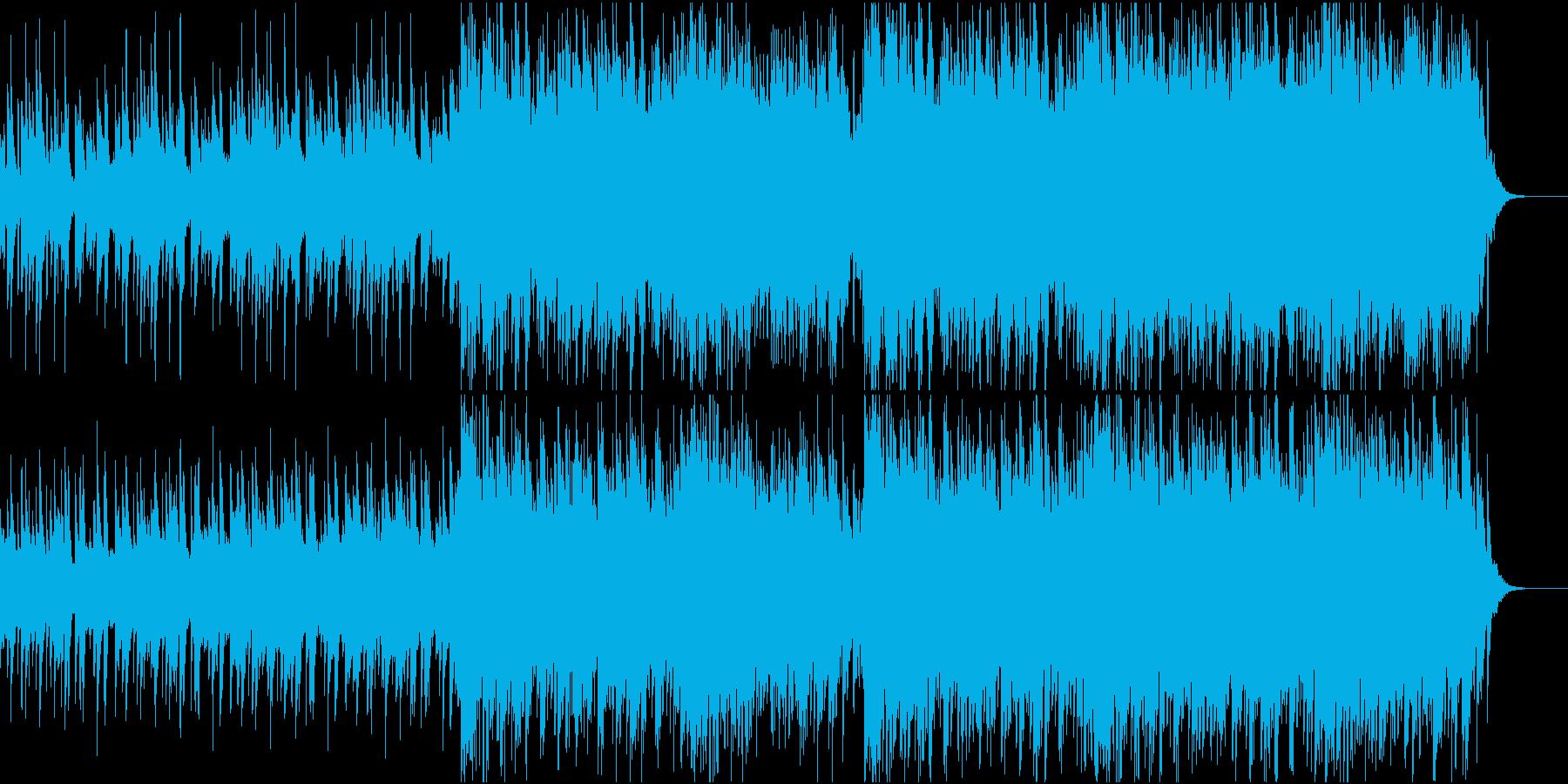 決意と緊張感の溢れるピアノとストリングスの再生済みの波形