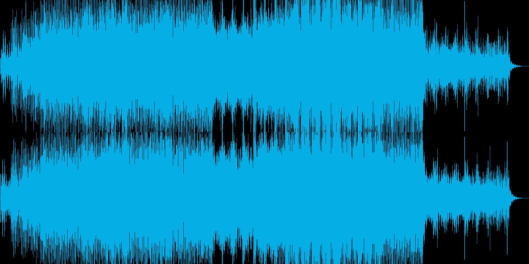前向きでフレッシュなトランスポップの再生済みの波形