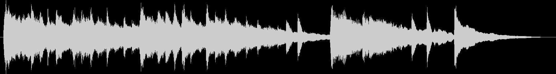 感動的エモーショナルなピアノサウンドロゴの未再生の波形